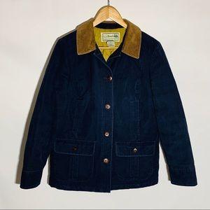 L.L. Bean navy barn coat field jacket, size MP